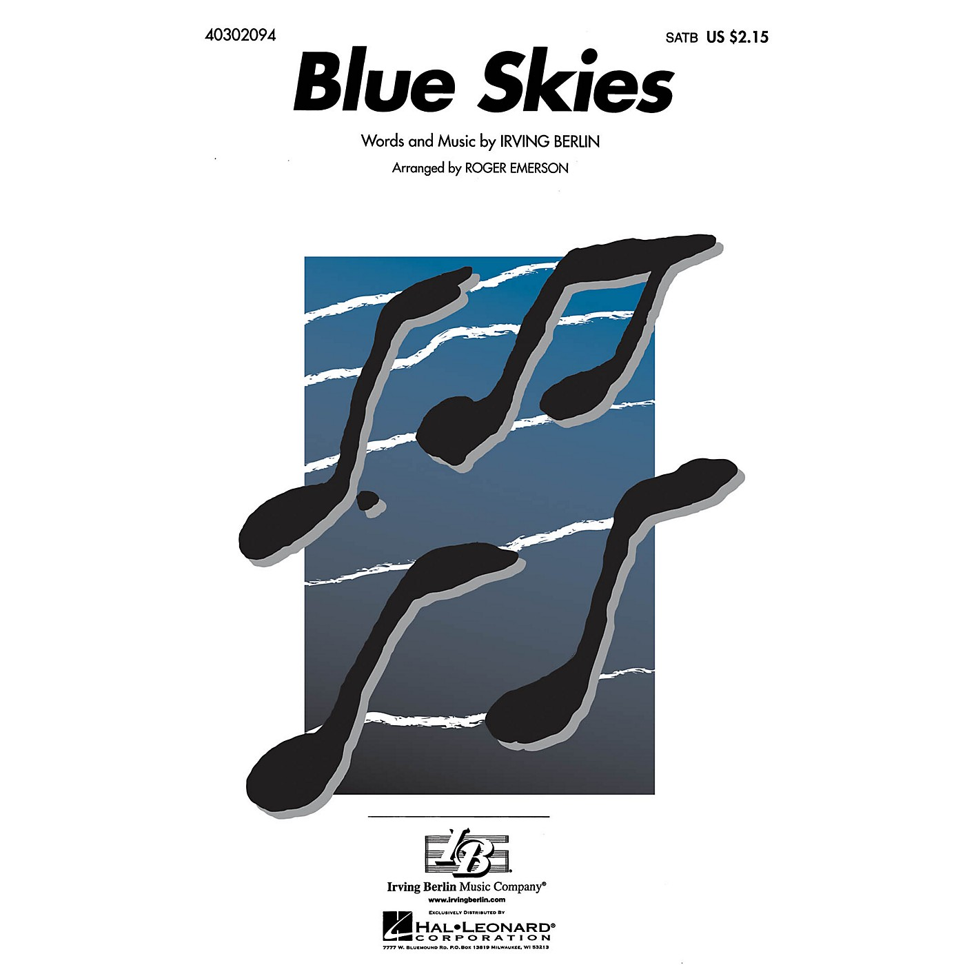 Hal Leonard Blue Skies SATB arranged by Roger Emerson thumbnail