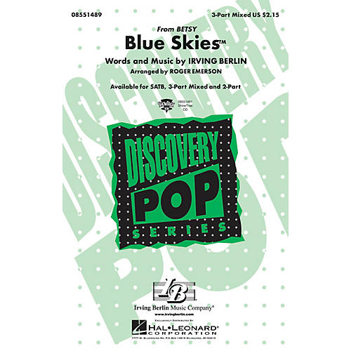 Hal Leonard Blue Skies Showtrax Cd Arranged By Roger Emerson Thumbnail: Unforgettable Sheet Music Irving Berlin At Alzheimers-prions.com