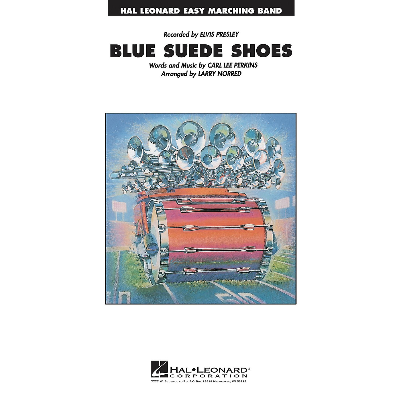 Hal Leonard Blue Suede Shoes Marching Band Level 2-3 Arranged by Larry Norred thumbnail