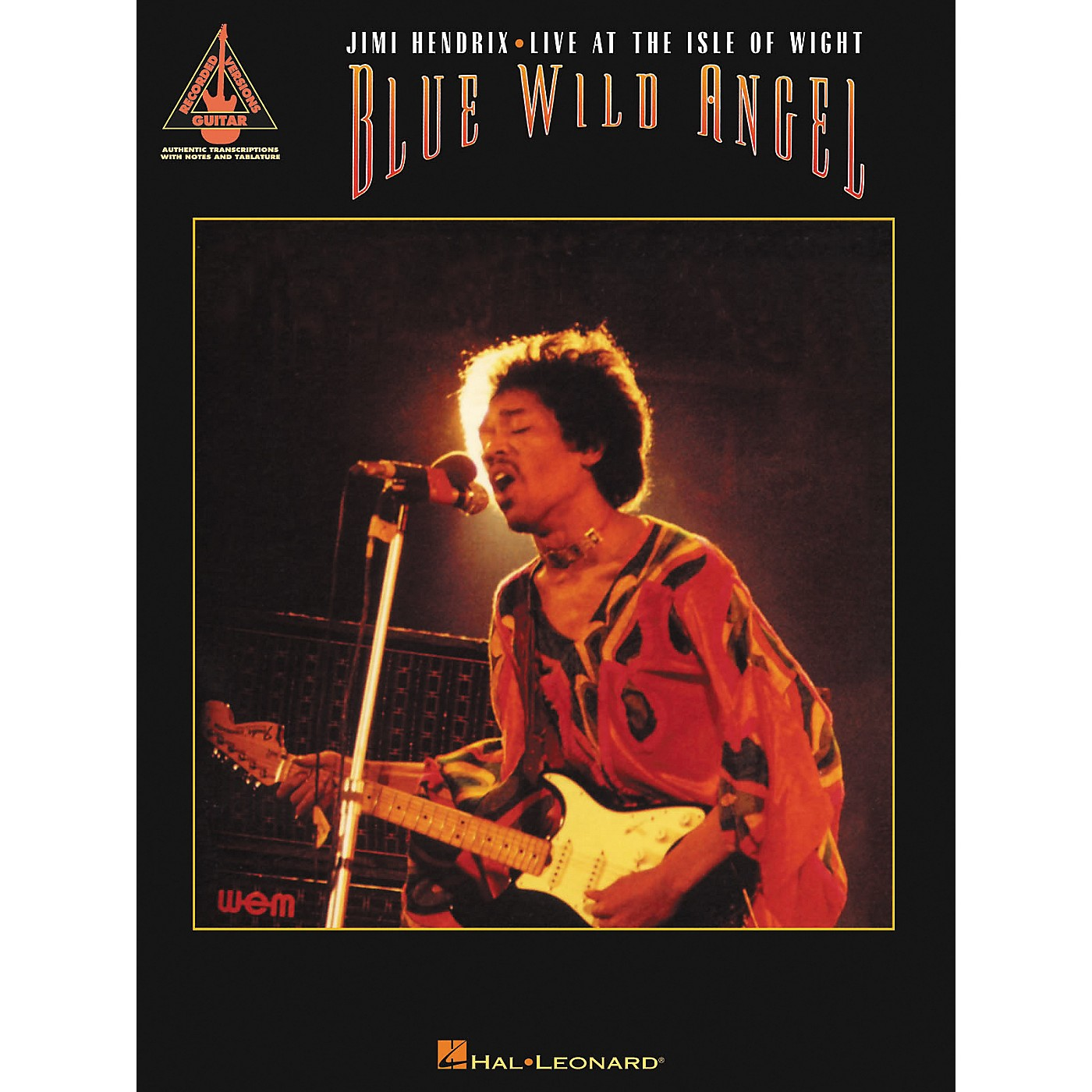 Hal Leonard Blue Wild Angel Jimi Hendrix Live at the Isle of Wight Guitar Tab Songbook thumbnail
