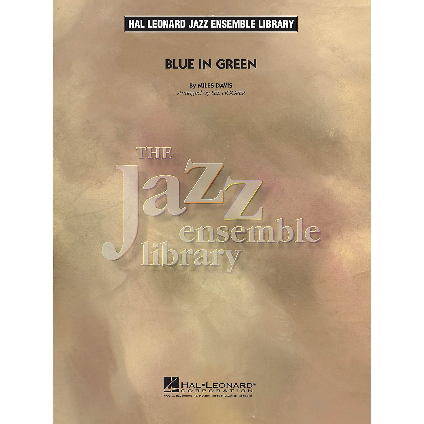 Hal Leonard Blue in Green Jazz Band Level 4 by Miles Davis Arranged by Les Hooper thumbnail