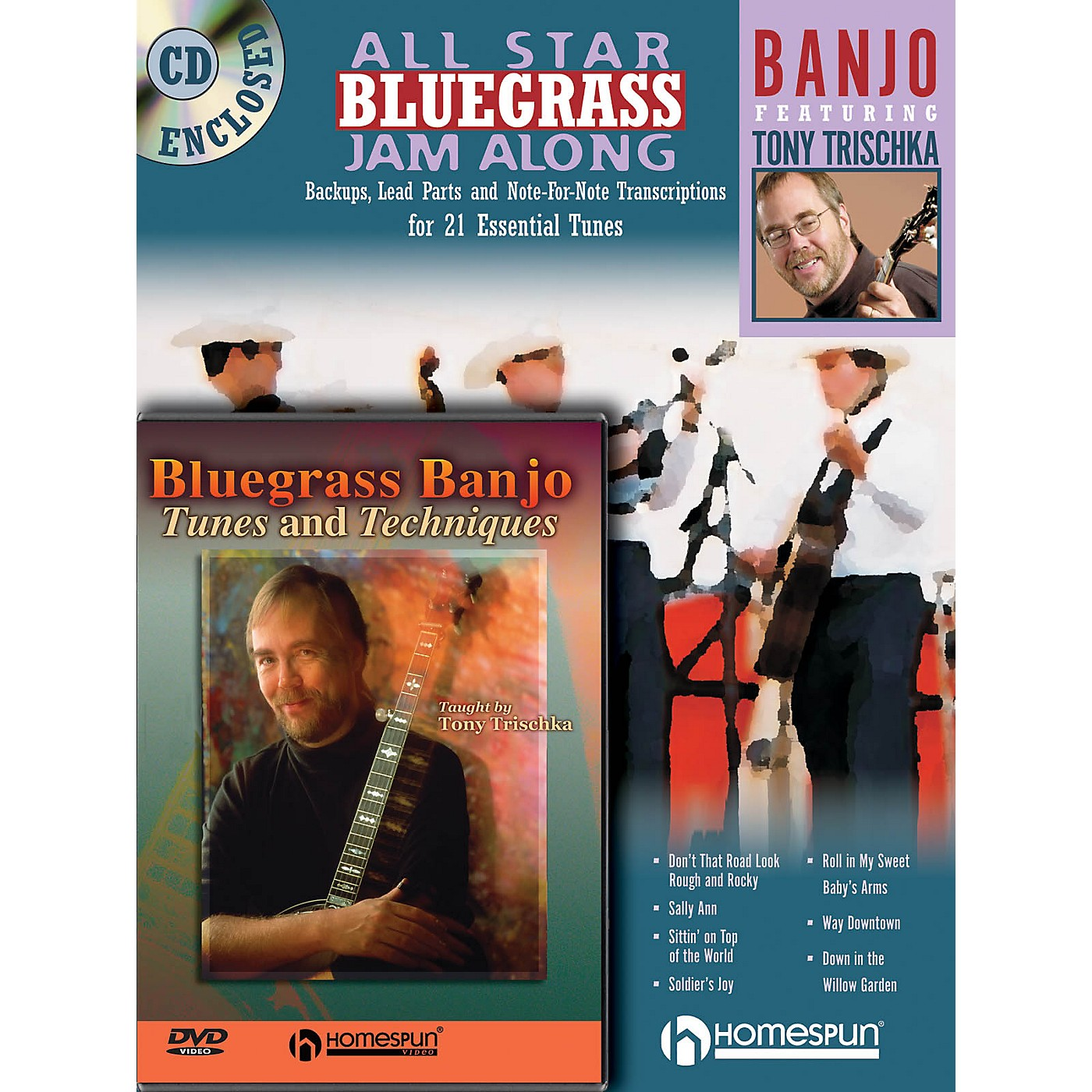Homespun Bluegrass Banjo Pack Homespun Tapes Series Performed by Tony Trischka thumbnail