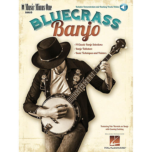 Music Minus One Bluegrass Banjo Softcover with Online Audio thumbnail