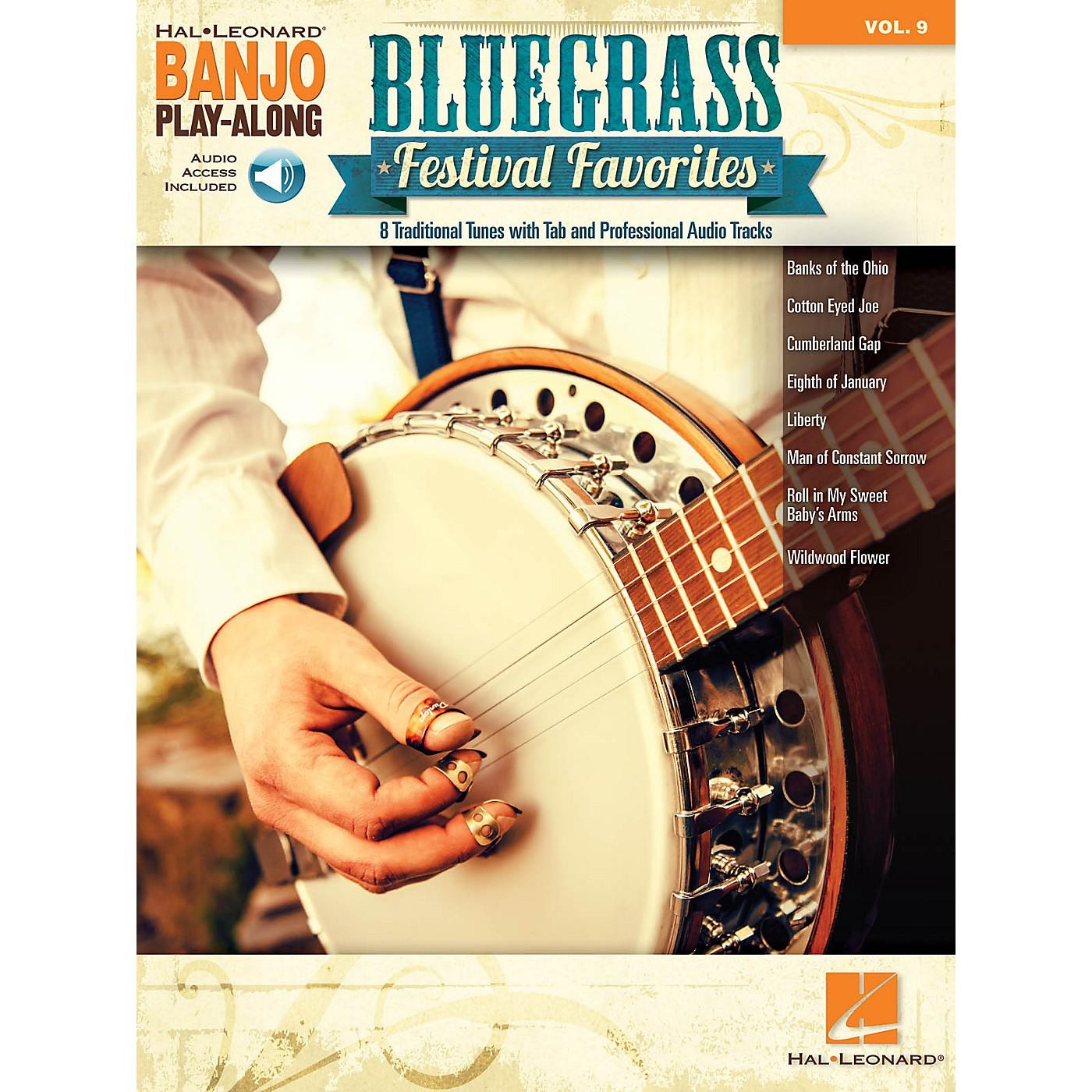 Hal Leonard Bluegrass Festival Favorites Banjo Play-Along Volume 9 Book/Audio Online thumbnail