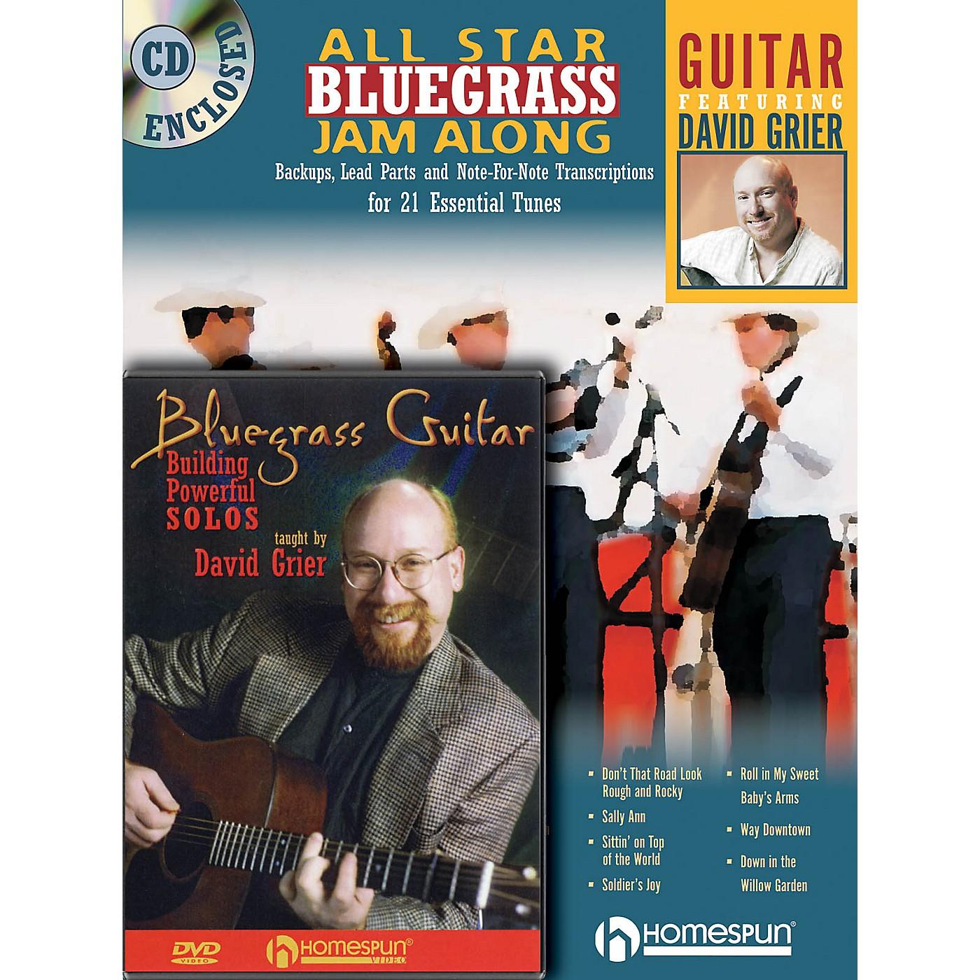 Homespun Bluegrass Guitar Bundle Pack Homespun Tapes Series Performed by David Grier thumbnail