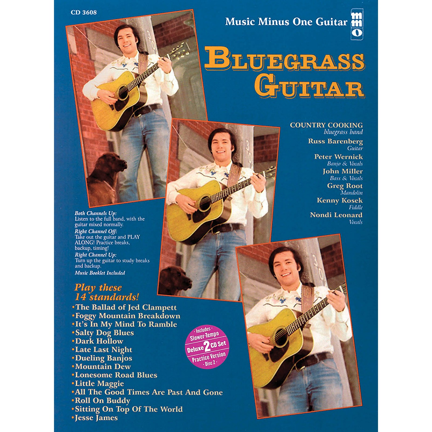 Music Minus One Bluegrass Guitar (Deluxe 2-CD Set) Music Minus One Series Softcover with CD thumbnail