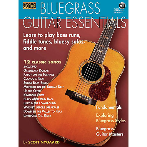 String Letter Publishing Bluegrass Guitar Essentials - Learn to Play Bass Runs, Fiddle Tunes, Bluesy Solos, and More BK/CD thumbnail