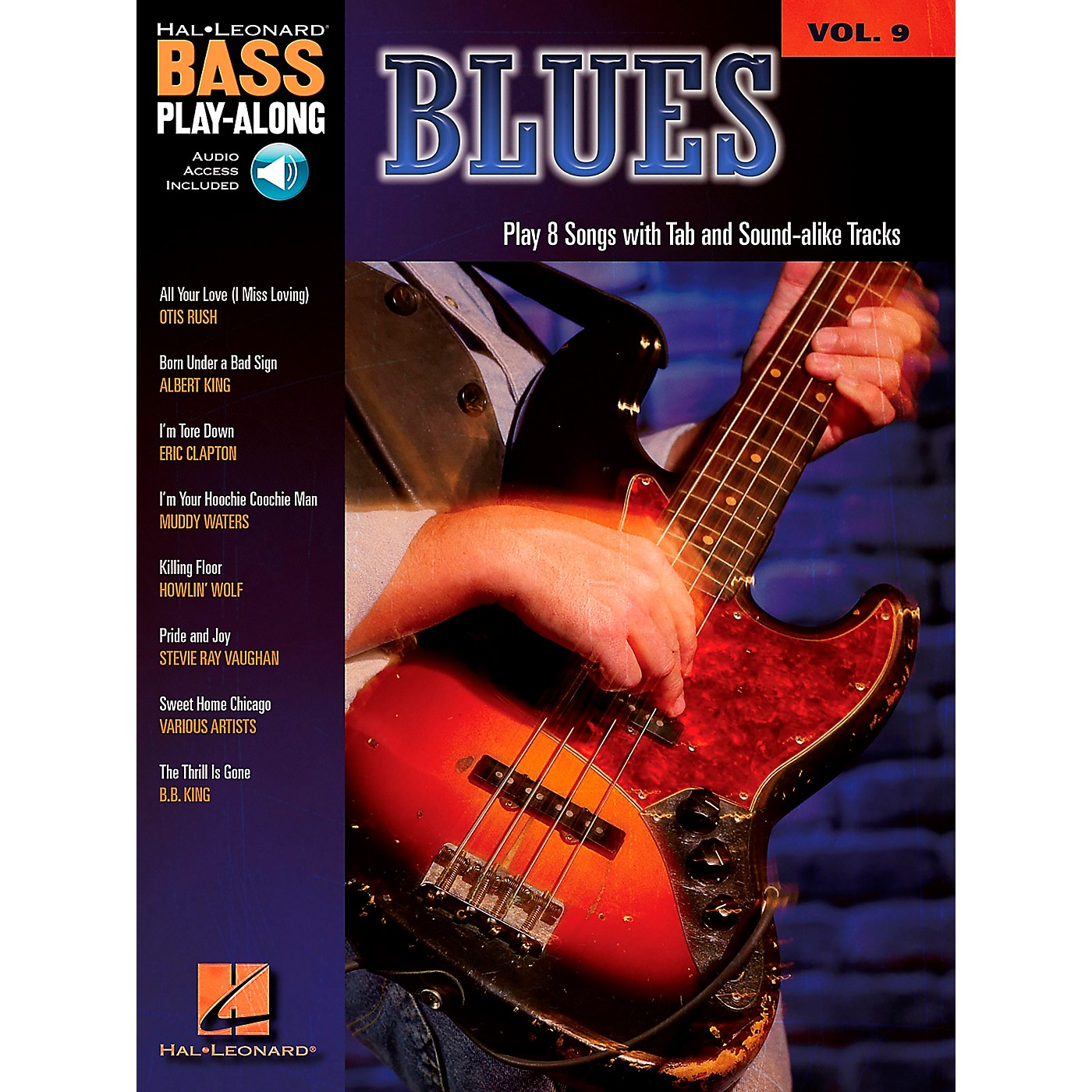 Hal Leonard Blues - Bass Play-Along Series Volume 9 Book and CD thumbnail