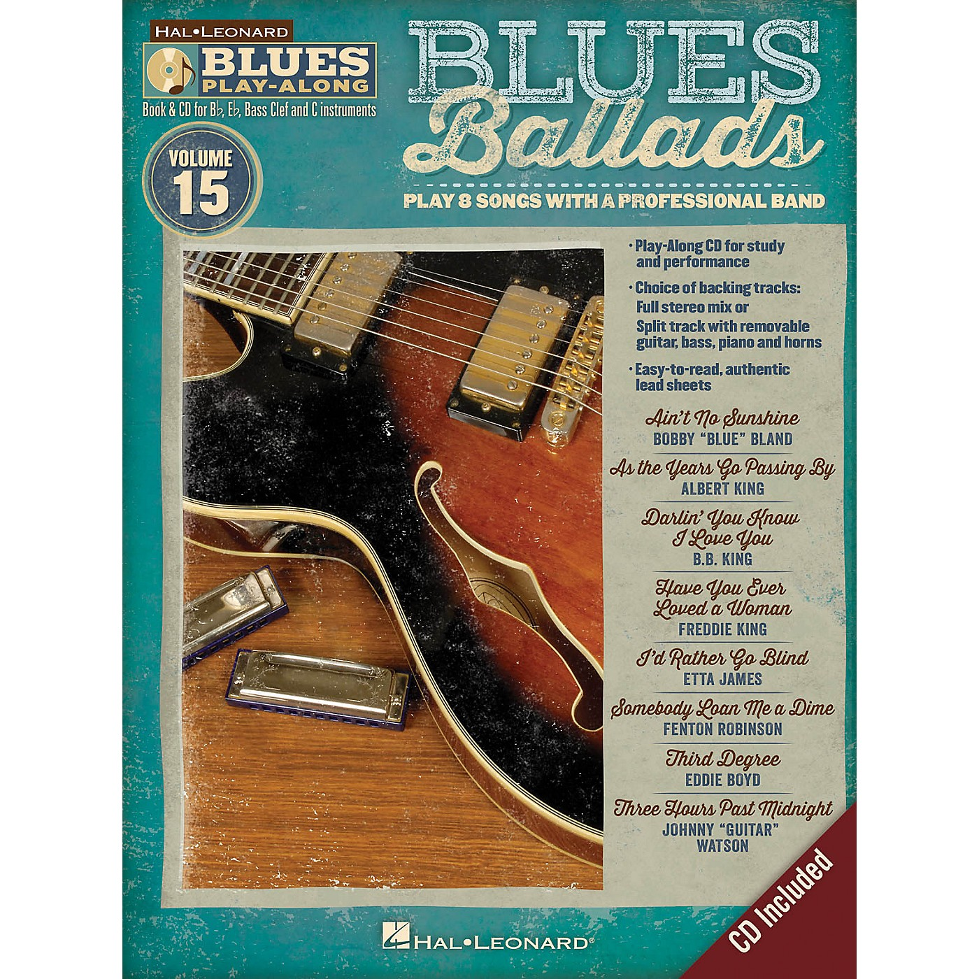 Hal Leonard Blues Ballads (Blues Play-Along Volume 15) Blues Play-Along Series Softcover with CD Performed by Various thumbnail