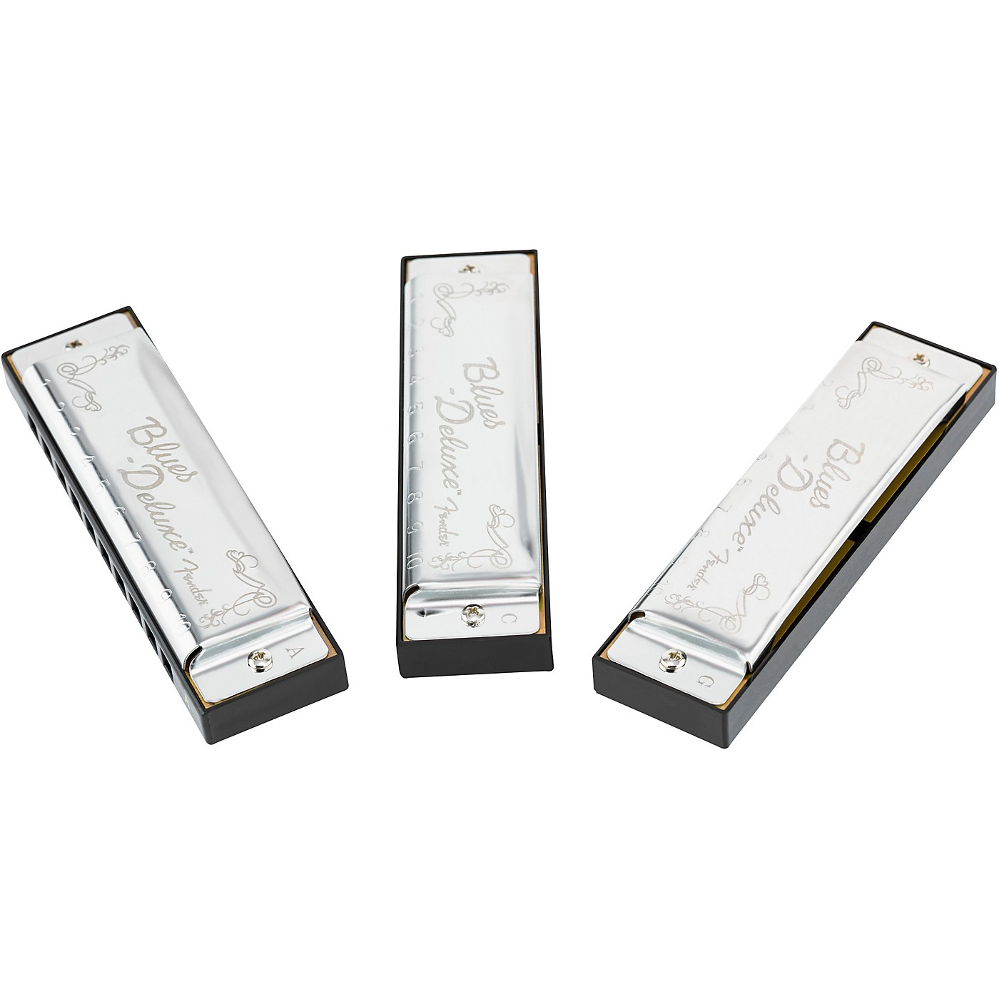 Fender Blues Deluxe Harmonicas (3-Pack with Case, Keys of C, G and A) thumbnail