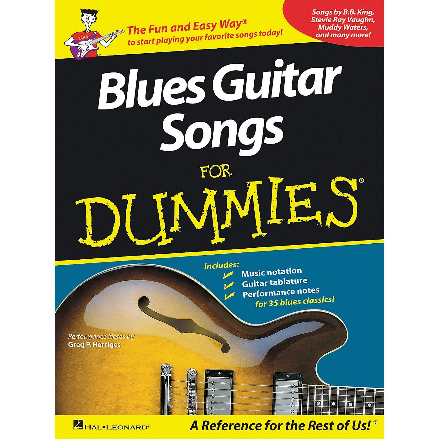 Hal Leonard Blues Guitar Songs for Dummies Guitar Tab Songbook thumbnail