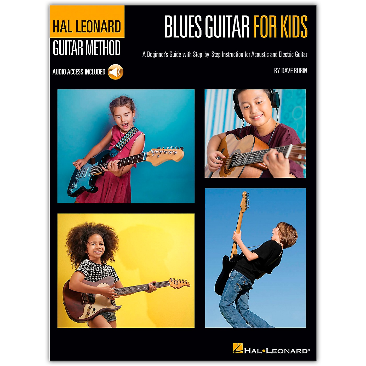 Hal Leonard Blues Guitar for Kids - A Beginner's Guide with Step-by-Step Instruction for Acoustic and Electric Guitar Book/Audio Online thumbnail