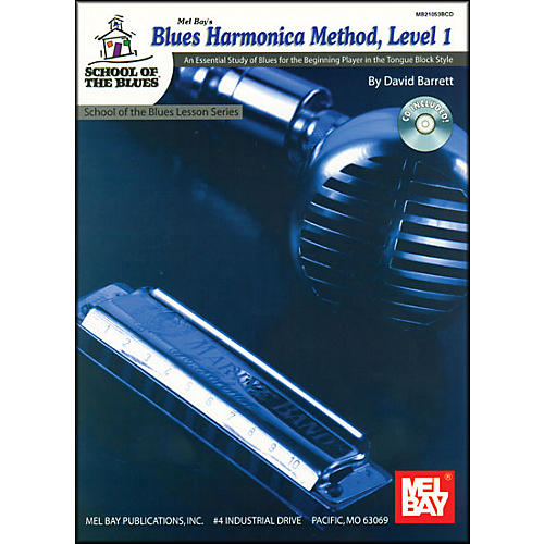 Mel Bay Blues Harmonica Method, Level 1 Book and CD thumbnail