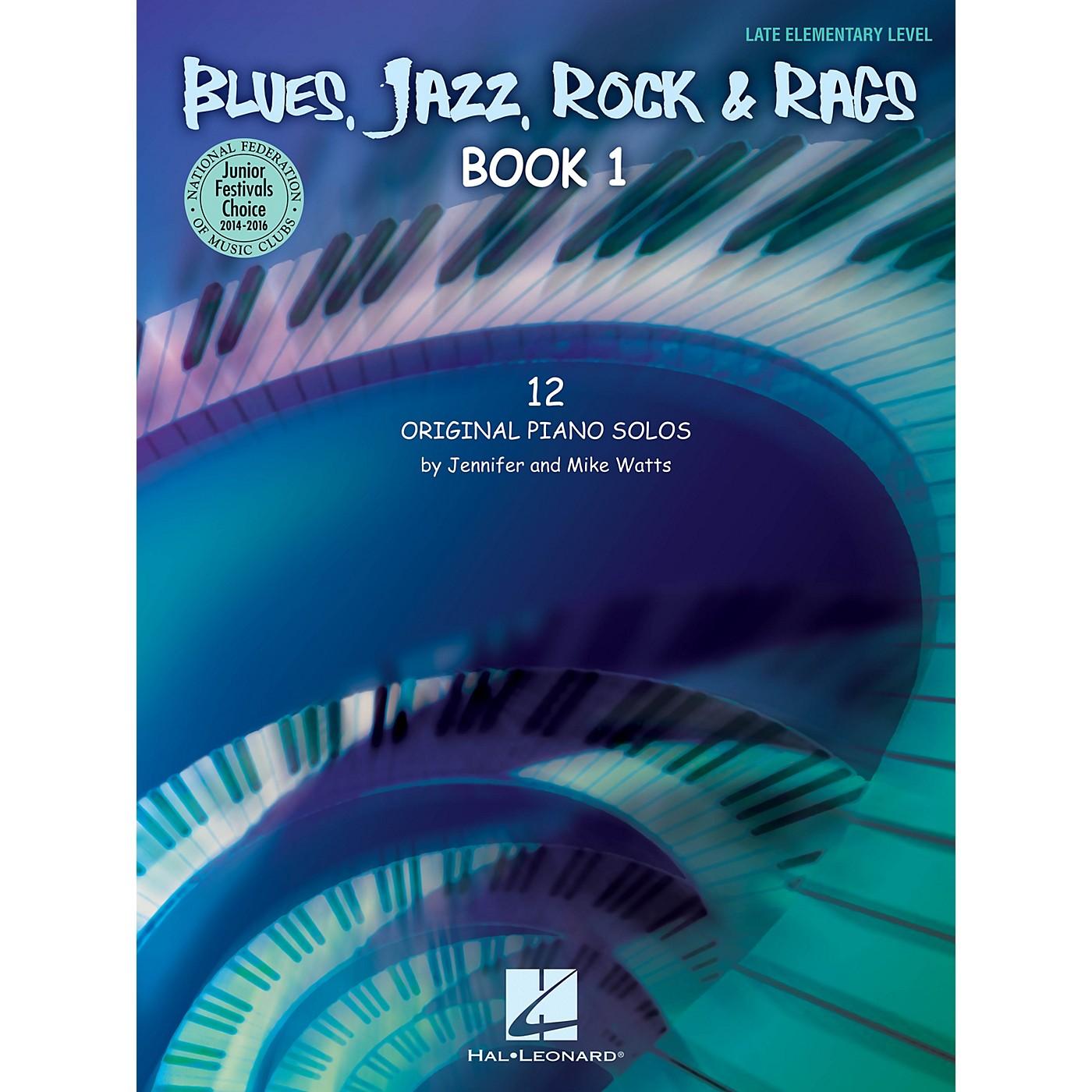 Hal Leonard Blues, Jazz, Rock & Rags - Book 1 Educational Piano Solo Series Book by Jennifer Watts (Level Late Elem) thumbnail