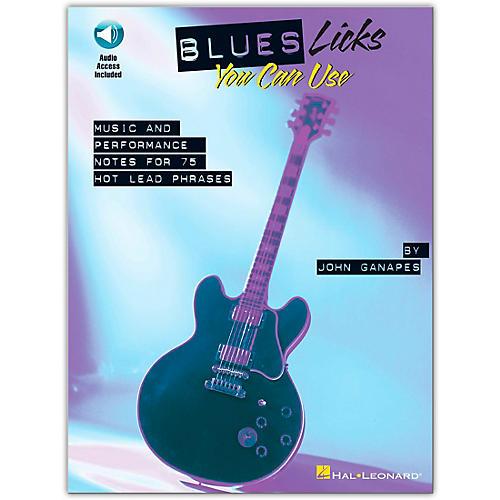 Hal Leonard Blues Licks You Can Use - Guitar (Book/Online Audio) thumbnail