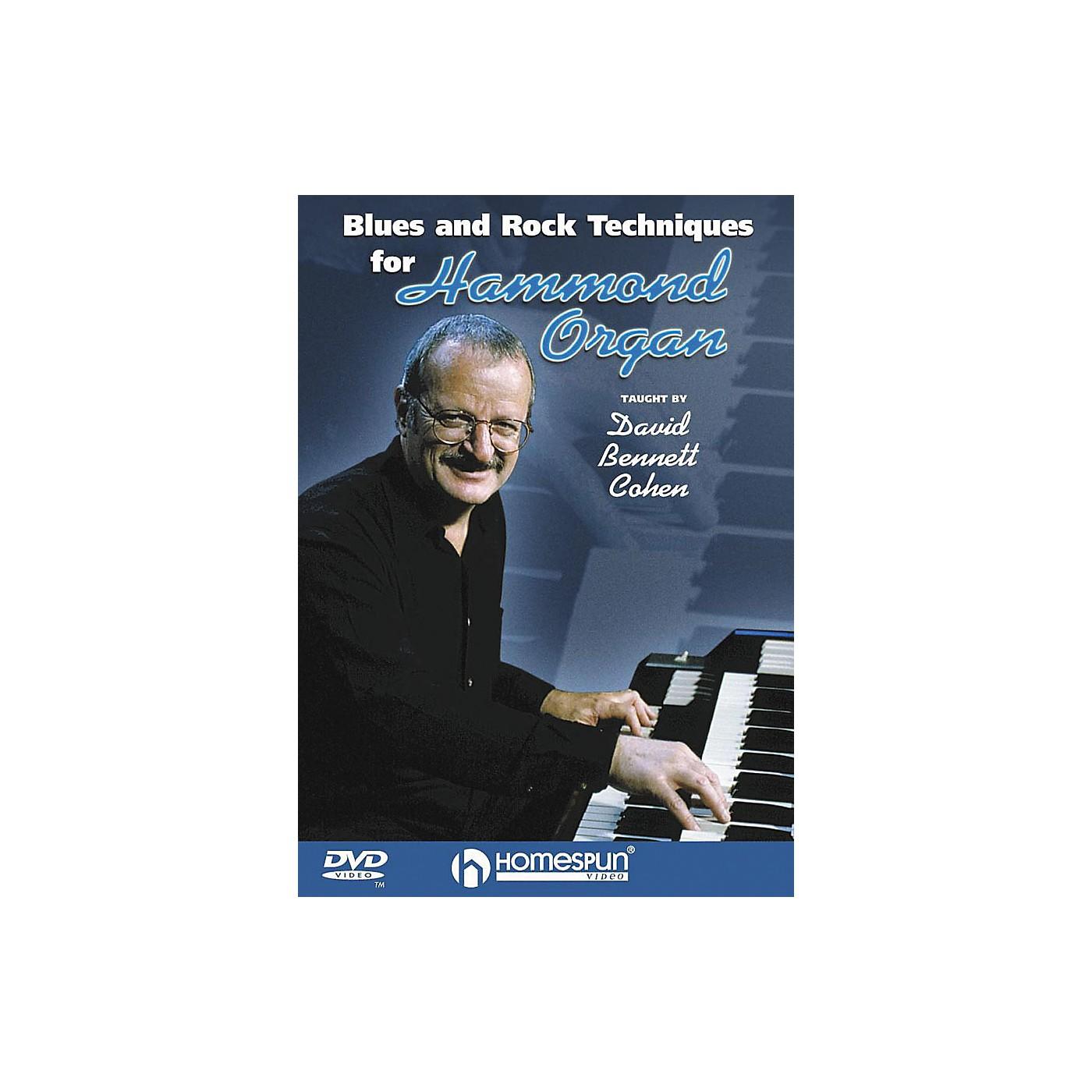 Homespun Blues & Rock Techniques for Hammond Organ (DVD) thumbnail