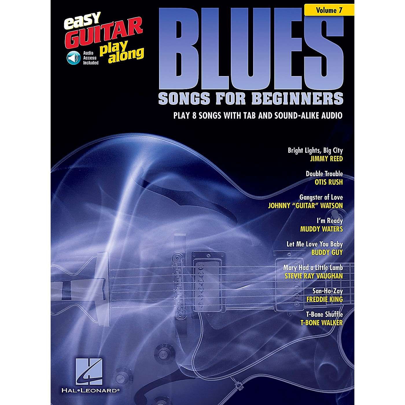Berklee Press Blues Songs For Beginners - Easy Guitar Play-Along Volume 7 Book/CD thumbnail