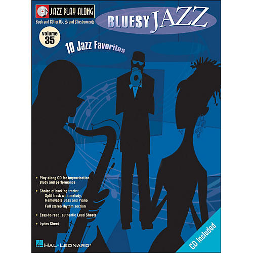 Hal Leonard Bluesy Jazz Volume 35 Book/CD Jazz Play Along thumbnail