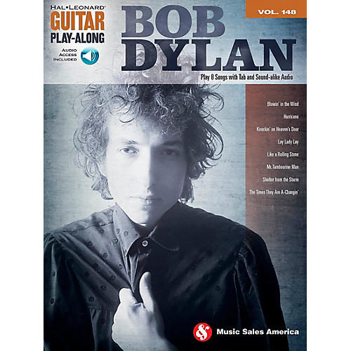 Music Sales Bob Dylan - Guitar Play-Along Volume 148 Book/CD thumbnail