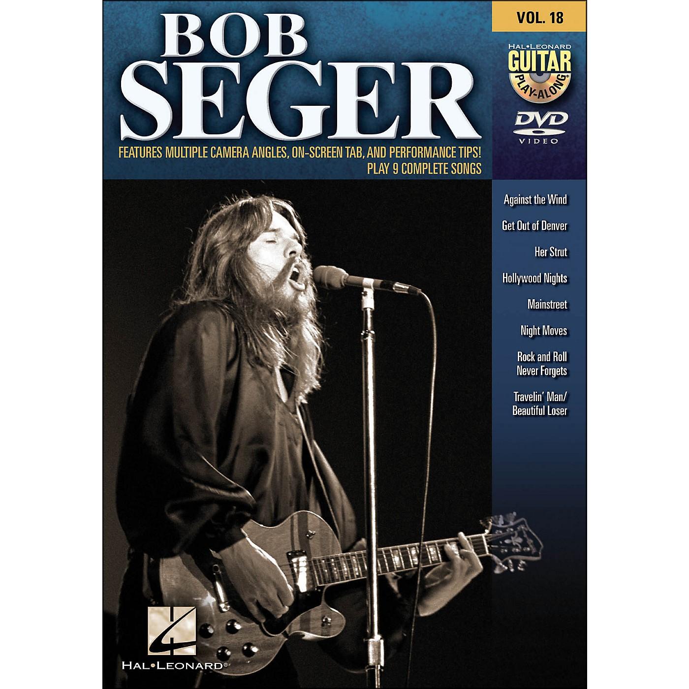Hal Leonard Bob Seger - Guitar Play-Along DVD Volume 18 thumbnail