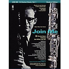 Music Minus One Bob Wilbur - Join Me: 16 Clarinet Duets Music Minus One Series BK/CD Performed by Bob Wilbur