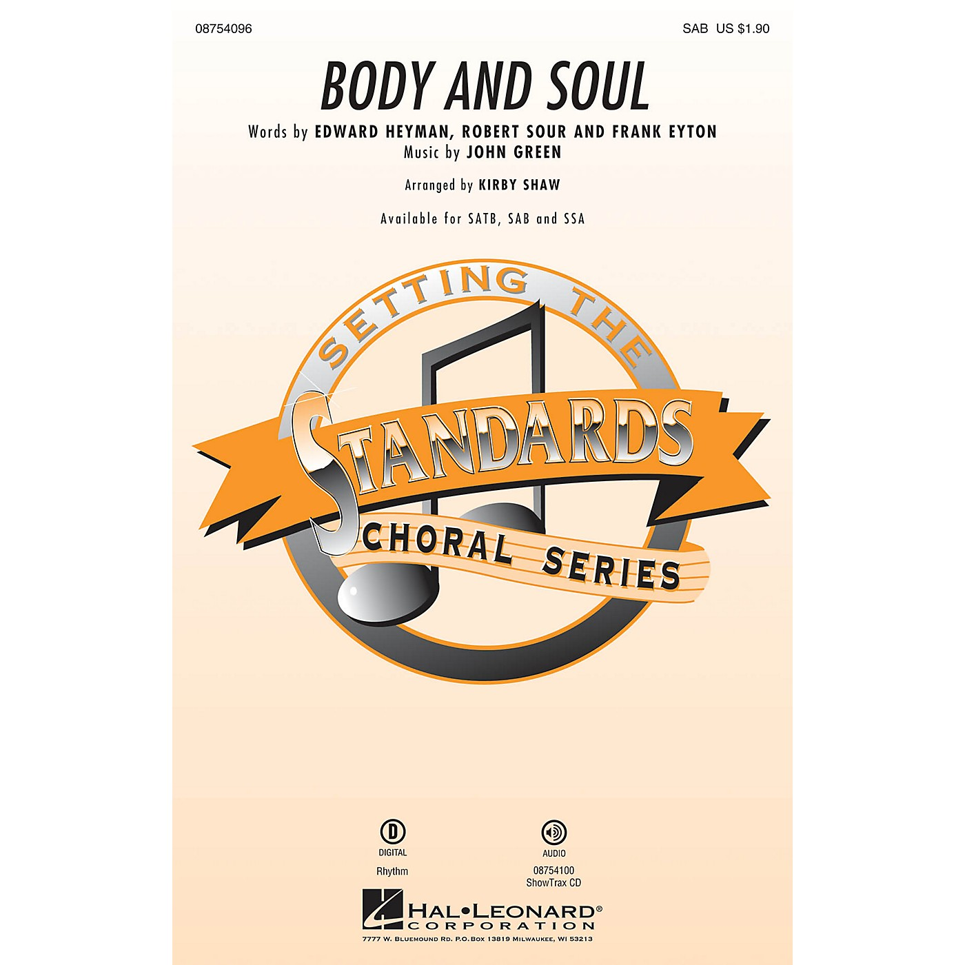 Hal Leonard Body and Soul SAB by Amy Winehouse arranged by Kirby Shaw thumbnail