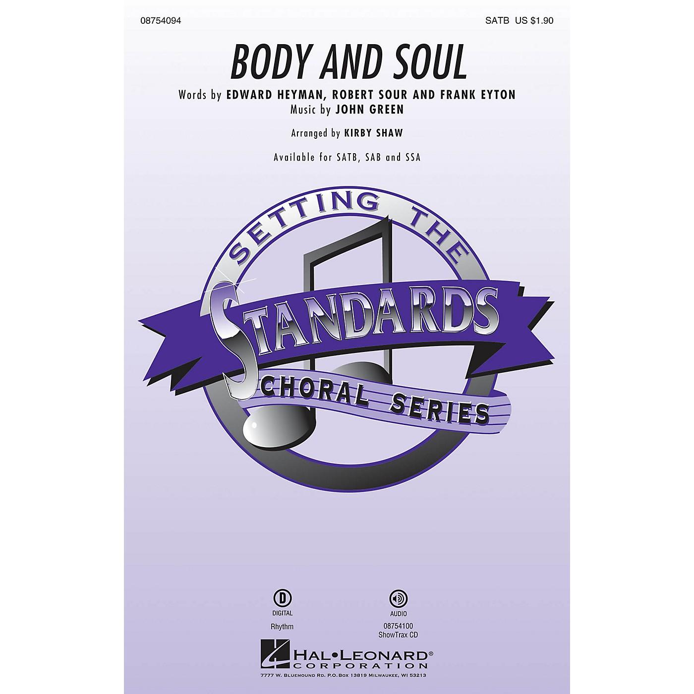 Hal Leonard Body and Soul SATB by Tony Bennett arranged by Kirby Shaw thumbnail