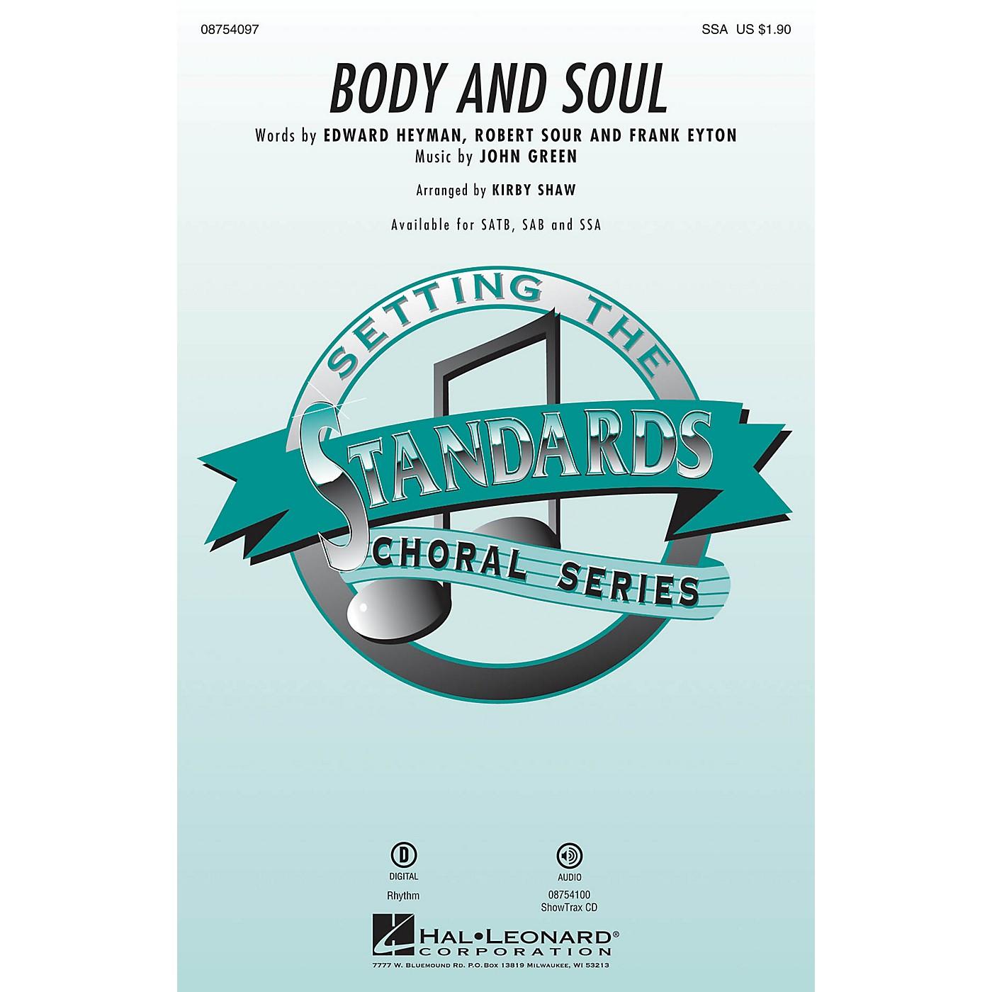 Hal Leonard Body and Soul SSA by Tony Bennett arranged by Kirby Shaw thumbnail