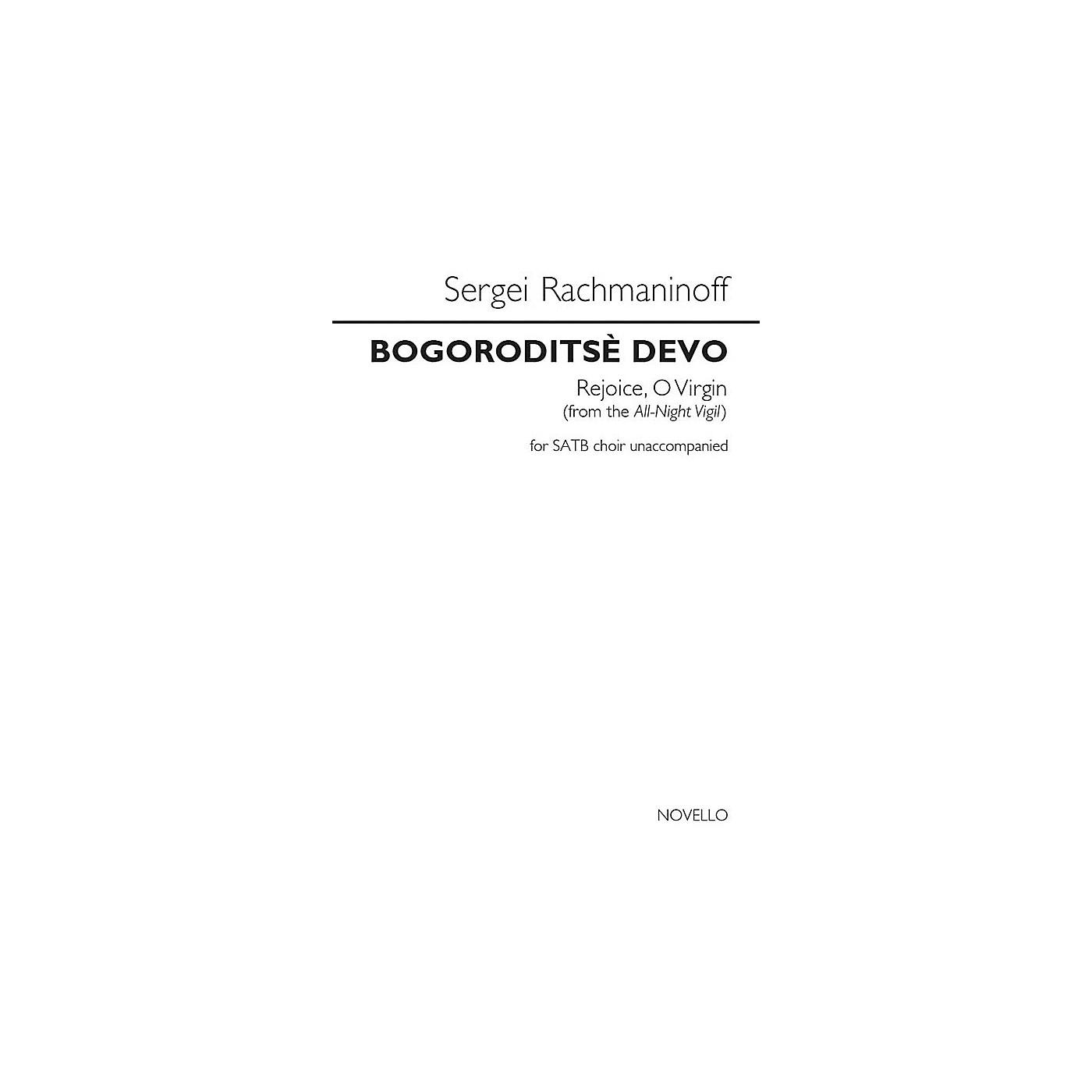 Novello Bogoroditse Devo (Rejoice, O Virgin) (from the All-Night Vigil) SATB a cappella by Sergei Rachmaninoff thumbnail