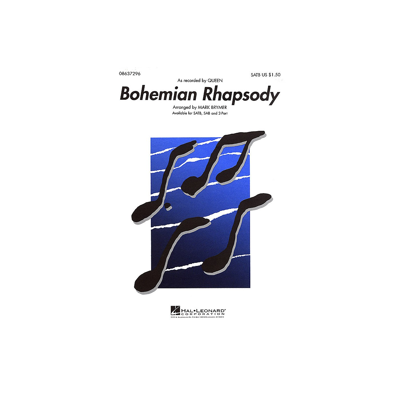 Hal Leonard Bohemian Rhapsody TTBB by Queen Arranged by Mark Brymer thumbnail