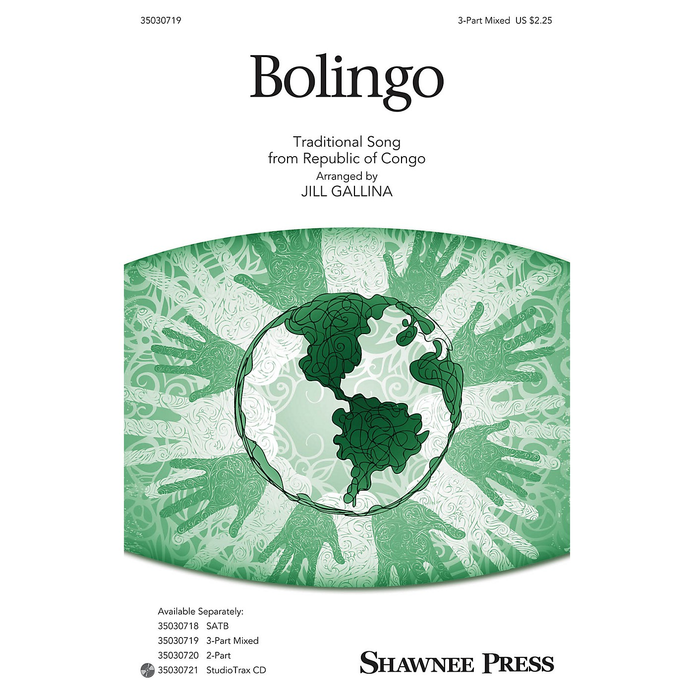 Shawnee Press Bolingo 3-Part Mixed arranged by Jill Gallina thumbnail