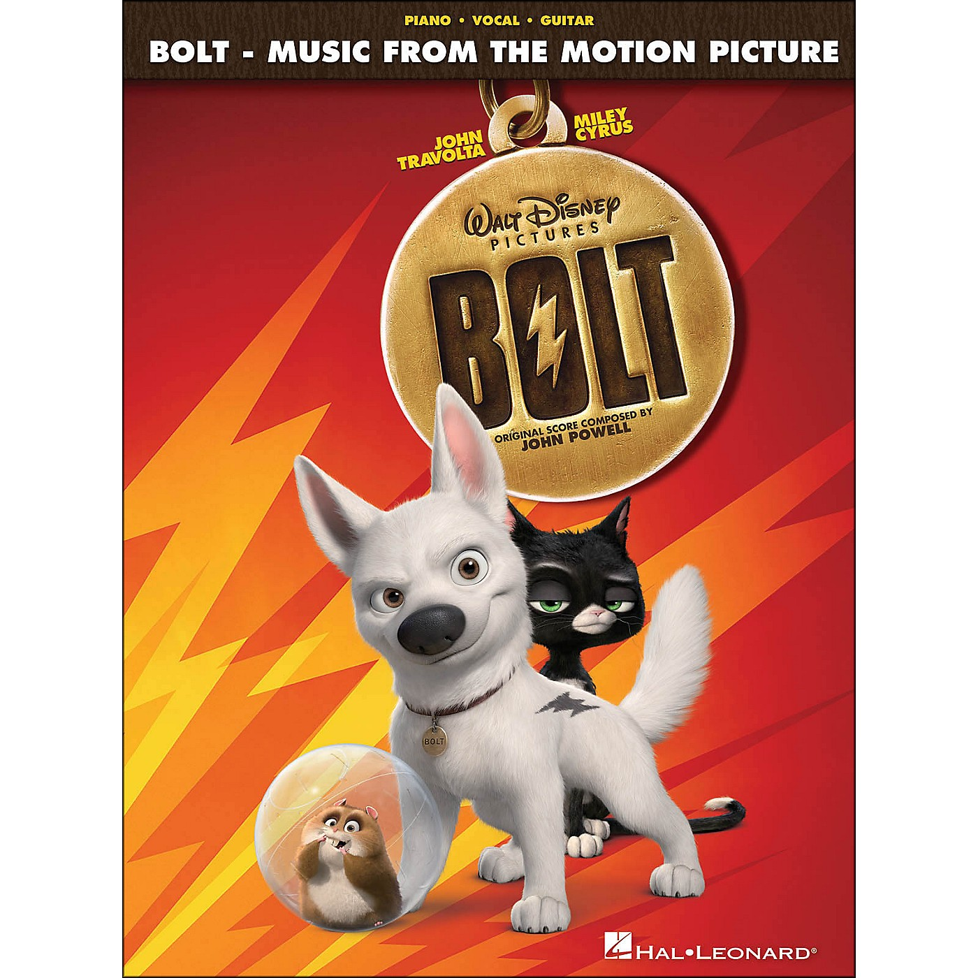 Hal Leonard Bolt - Music From The Motion Picture Soundtrack arranged for piano, vocal, and guitar (P/V/G) thumbnail