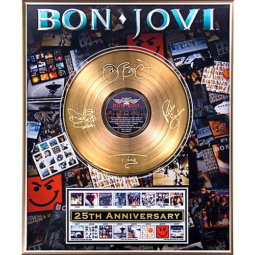 24 Kt. Gold Records Bon Jovi - 25th Anniversary Gold LP Limited Edition of 5000 thumbnail