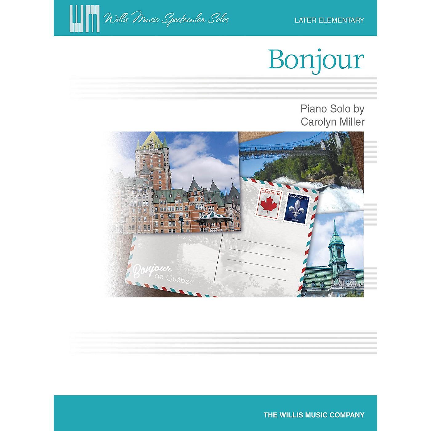 Willis Music Bonjour (Later Elem Level) Willis Series Book by Carolyn Miller thumbnail