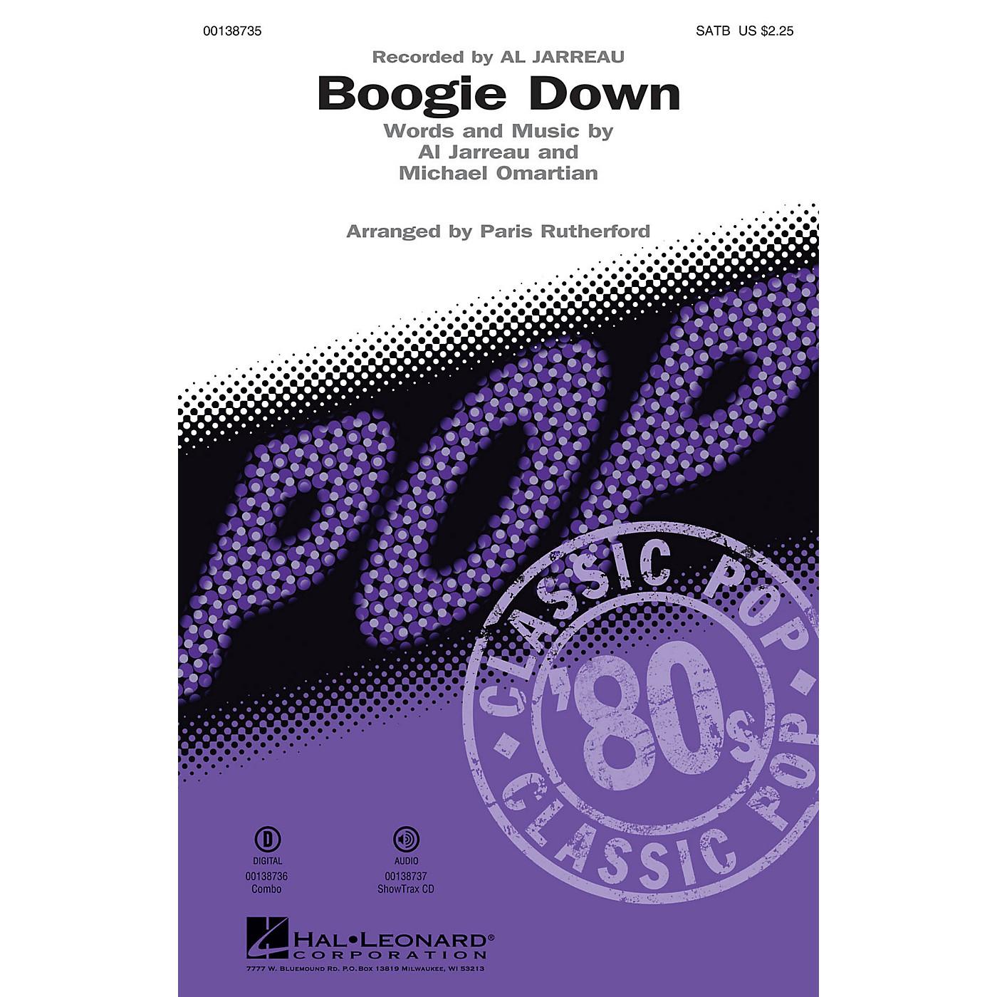 Hal Leonard Boogie Down ShowTrax CD by Al Jarreau Arranged by Paris Rutherford thumbnail