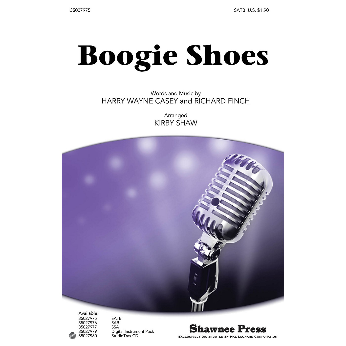Shawnee Press Boogie Shoes Studiotrax CD by KC and the Sunshine Band Arranged by Kirby Shaw thumbnail