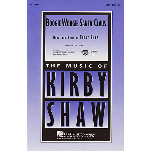 Hal Leonard Boogie Woogie Santa Claus Combo Parts Composed by Kirby Shaw thumbnail