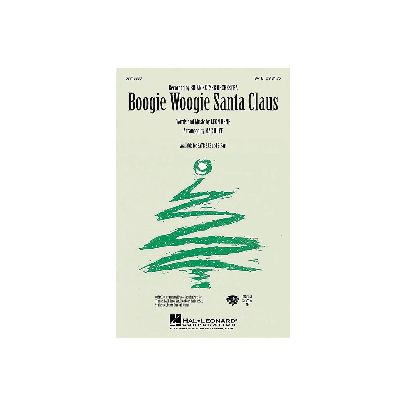 Hal Leonard Boogie Woogie Santa Claus SAB by Brian Setzer Orchestra Arranged by Mac Huff thumbnail