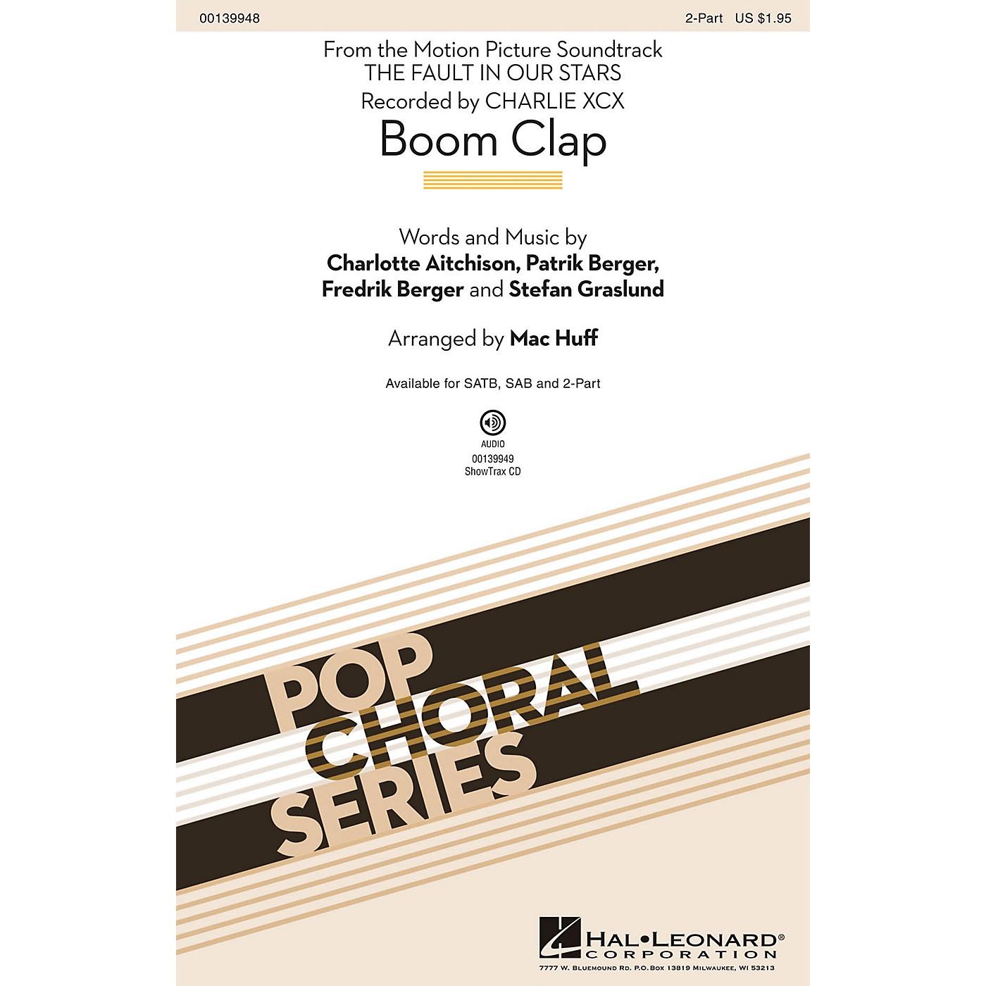 Hal Leonard Boom Clap 2-Part by Charli XCX arranged by Mac Huff thumbnail