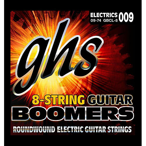GHS Boomer 8 String Custom Light Electric Guitar Set (9-74) thumbnail