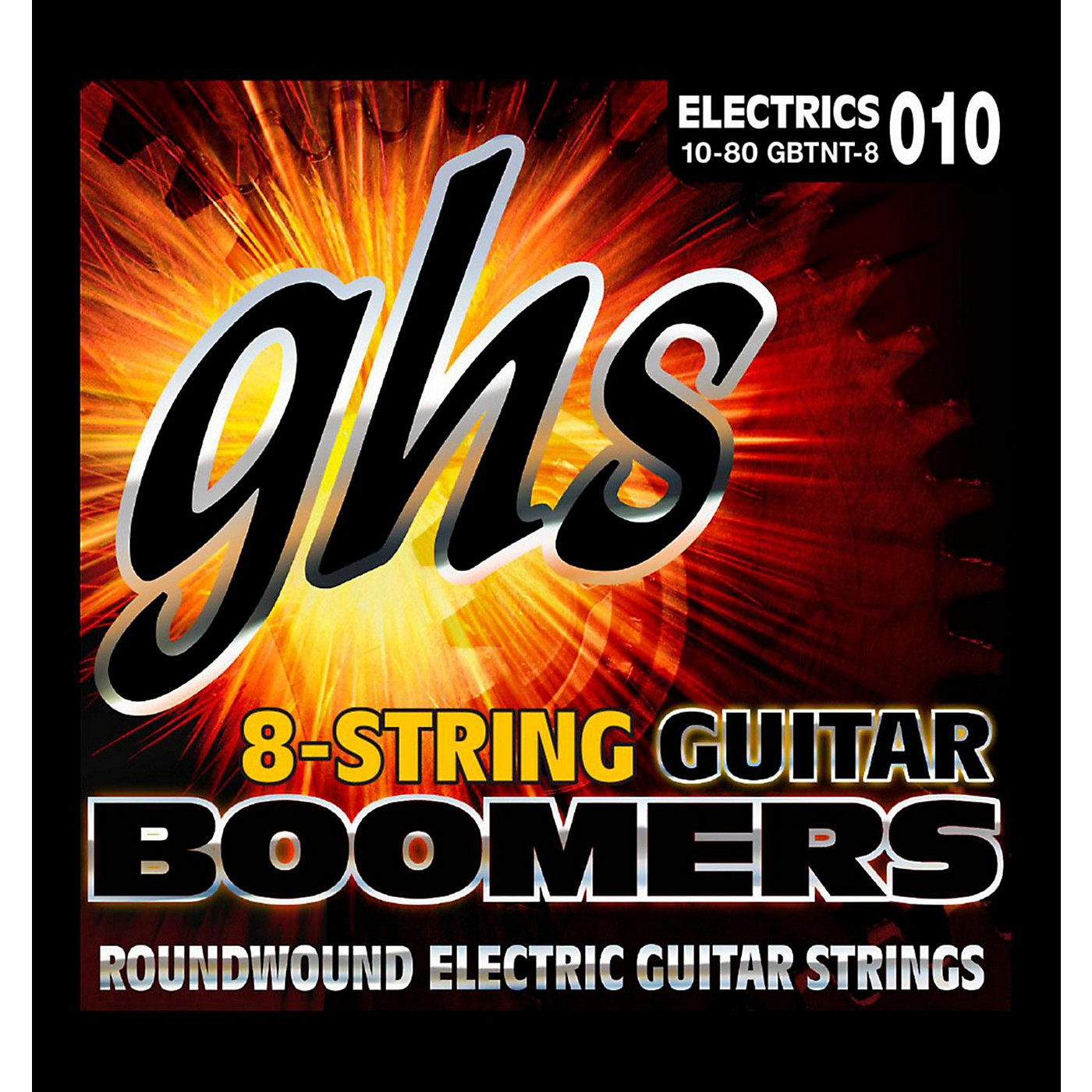 GHS Boomer 8 String Thick/Thin Electric Guitar Set (10-80) thumbnail