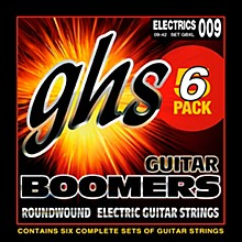GHS Boomers GBXL Extra Light Electric Guitar Strings (9-42) 5-Pack