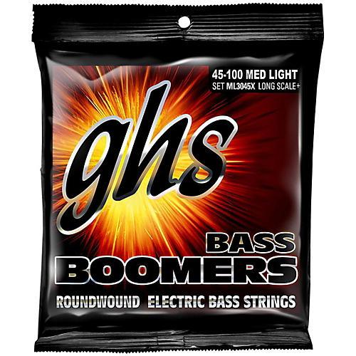 GHS Boomers Long Scale Plus Medium Light Bass Guitar Strings thumbnail