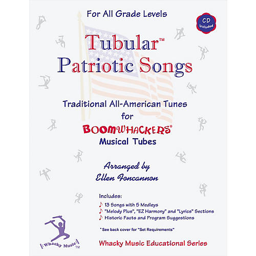 Boomwhackers Boomwhackers Tubes Tubular Patriotic Songs Book with CD thumbnail