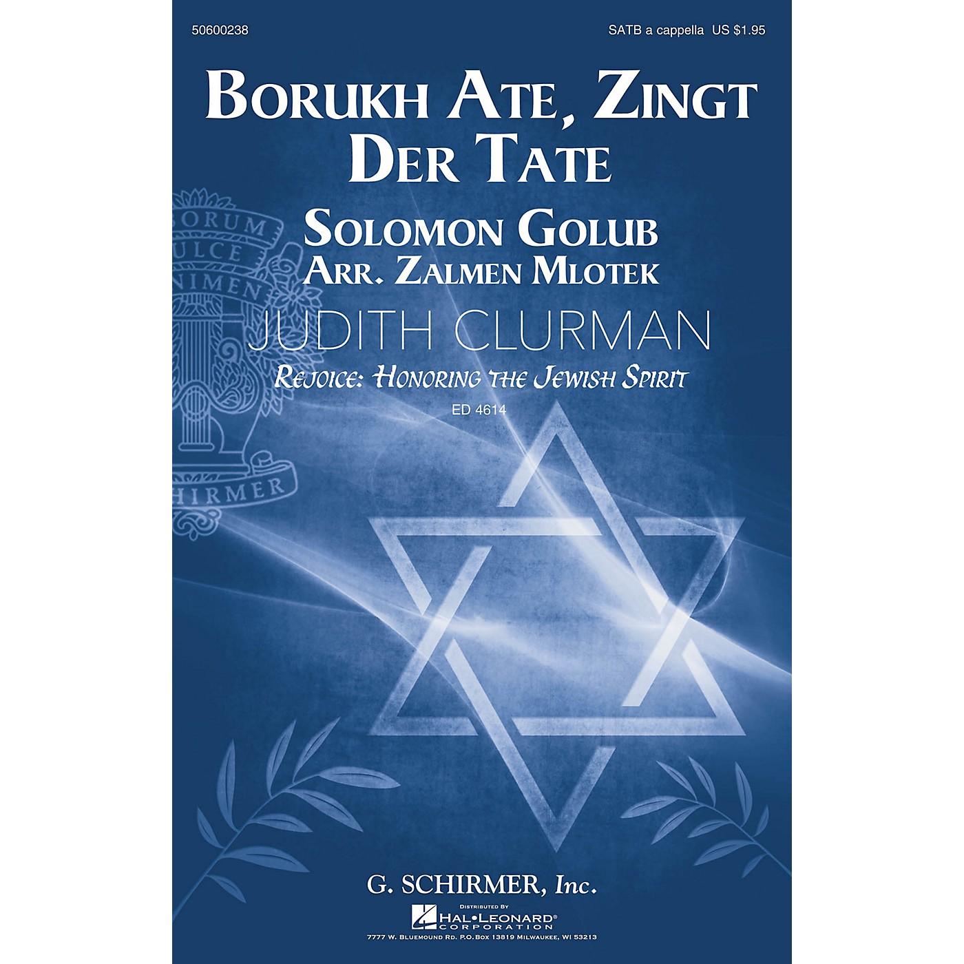 G. Schirmer Borukh Ate, Zingt Der Tate (Judith Clurman Choral Series) SATB a cappella arranged by Zalmen Mlotek thumbnail