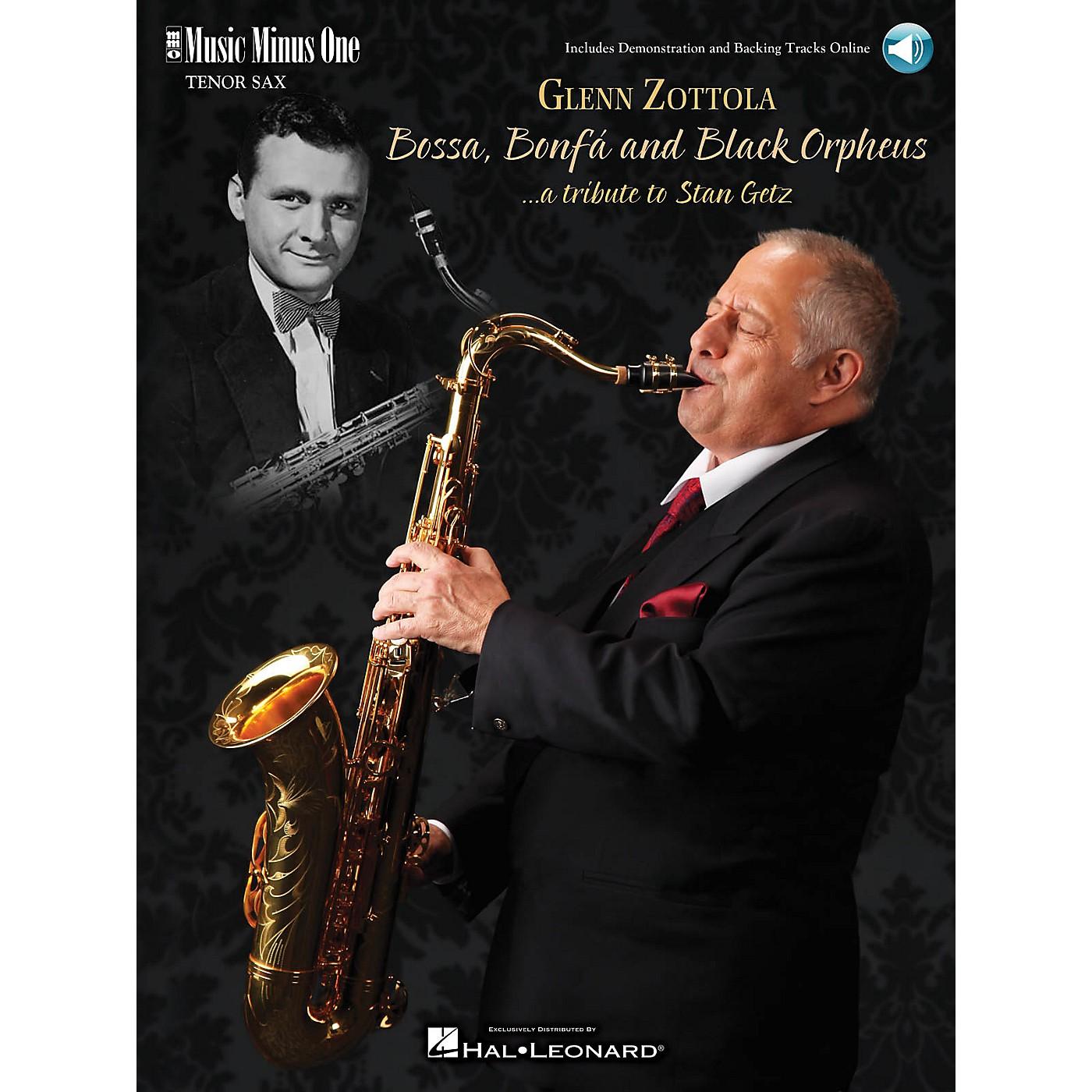 Music Minus One Bossa, Bonfa & Black Orpheus for Tenor Saxophone Music Minus One Series Book with CD by Stan Getz thumbnail