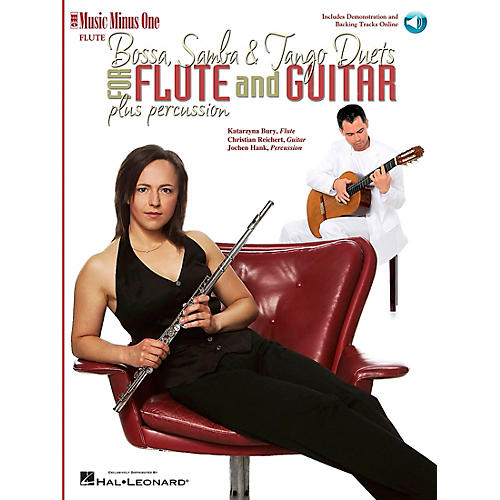 Music Minus One Bossa, Samba and Tango Duets for Flute & Guitar Music Minus One Series Softcover with CD thumbnail