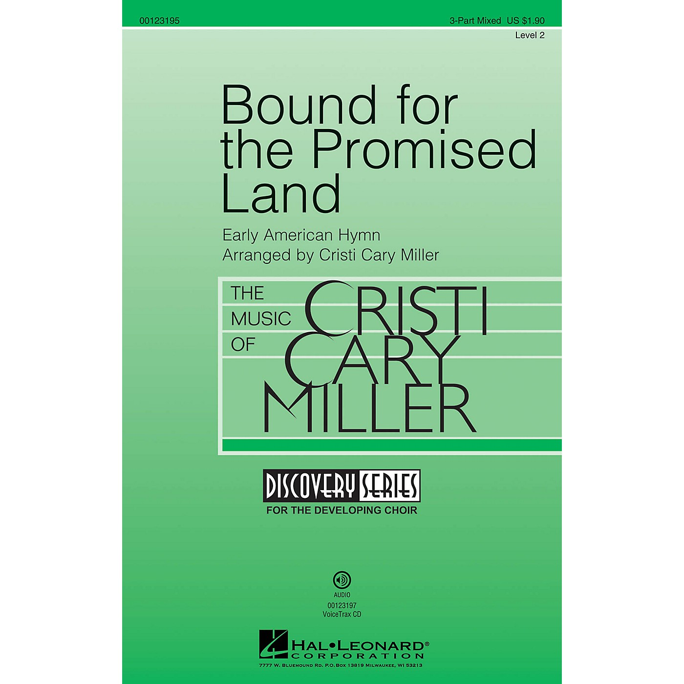 Hal Leonard Bound for the Promised Land (Discovery Level 2) 3-Part Mixed arranged by Cristi Cary Miller thumbnail