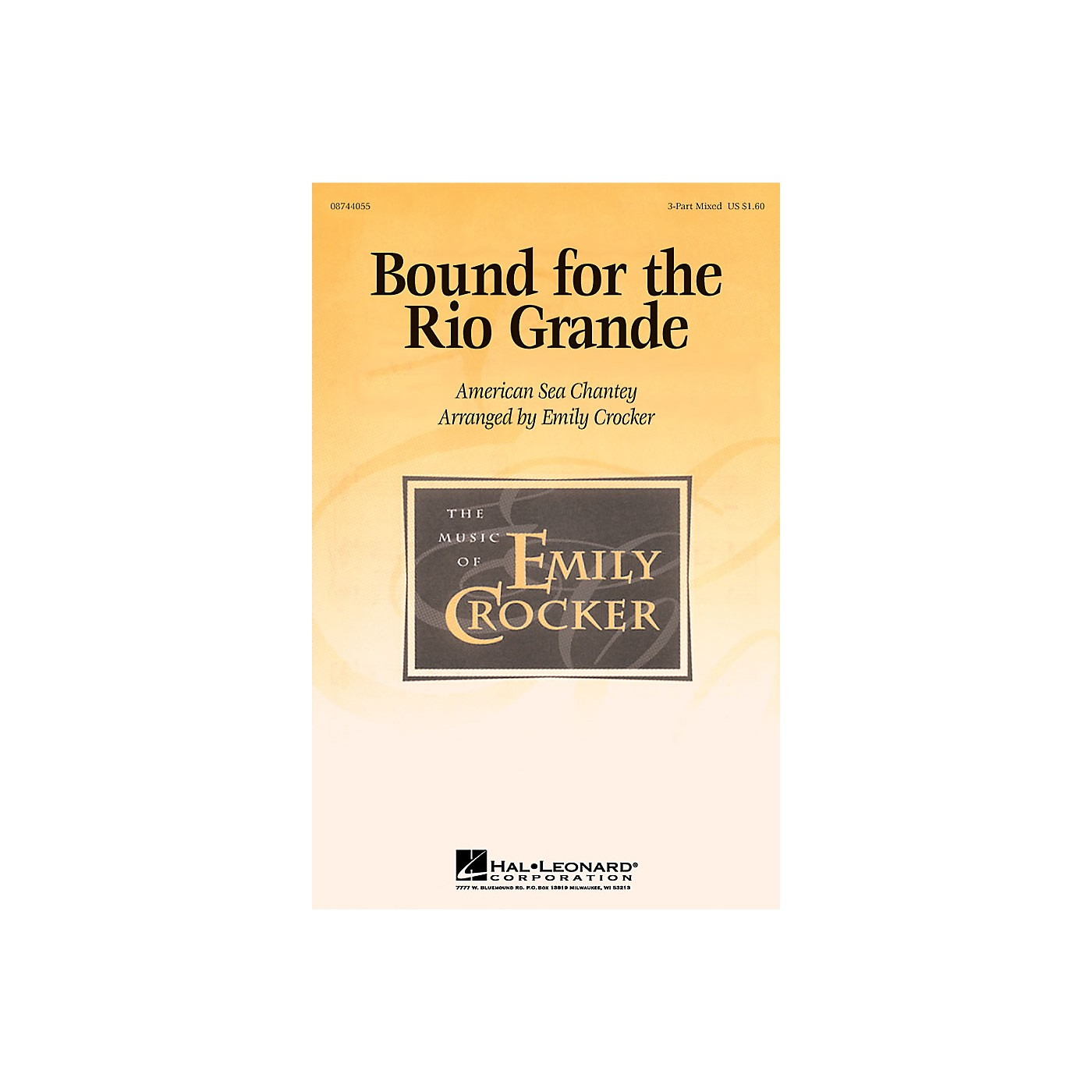 Hal Leonard Bound for the Rio Grande 3-Part Mixed arranged by Emily Crocker thumbnail