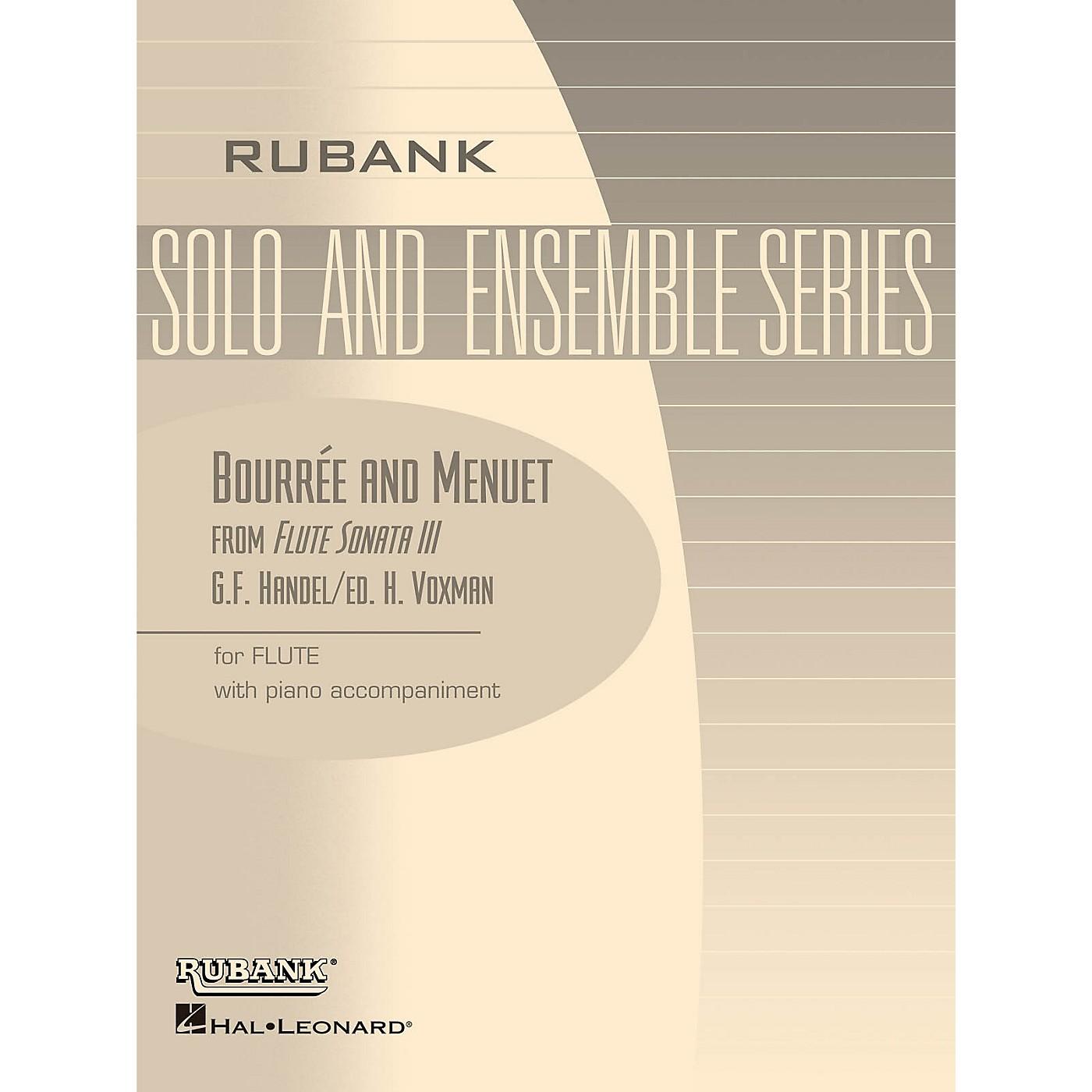 Rubank Publications Bourrée and Menuet (from Flute Sonata III) Rubank Solo/Ensemble Sheet Series thumbnail